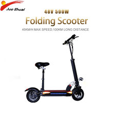 Elektrische Scooter 45 Km/h 48V500W Met Seat Opvouwbare Scooter Elektrische Patinete Electrico Adulto E Scooter Hoverboard Monopattino(China)