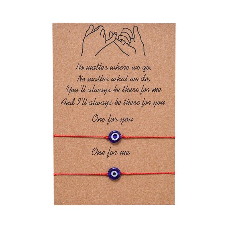 Женский браслет на мизинцах, браслет из плетеной бумаги с голубым смайликом и карточками, браслет на удачу, бижутерия, 2019