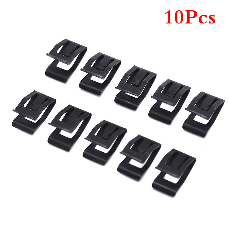 10Pcs Auto Car Front Console Dash Dashboard Bumpers Trim Metal Retainer Clips