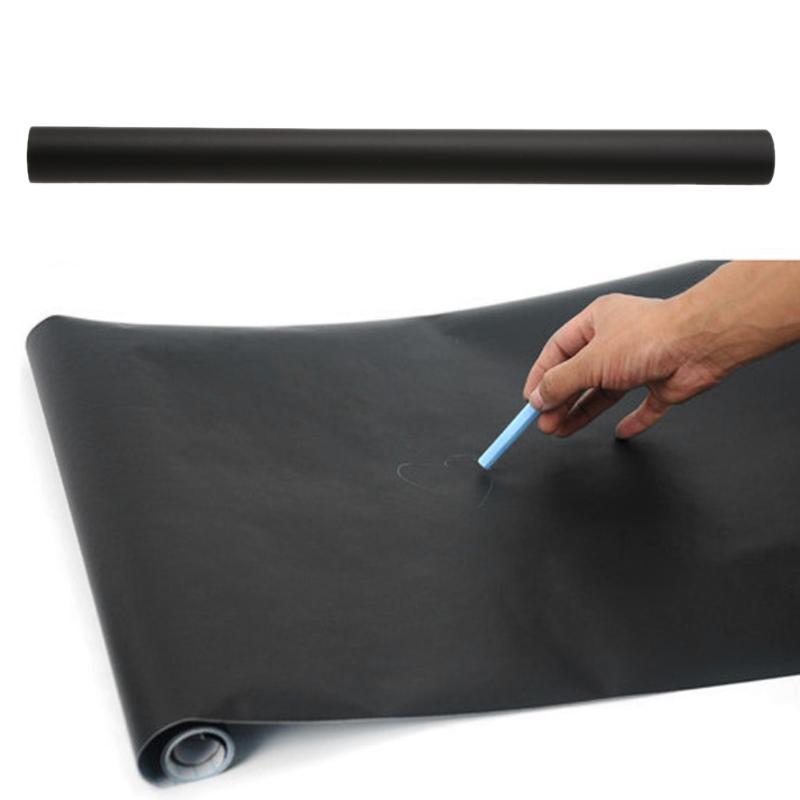 45 X 200cm PVC Blackboard Removable Wall Sticker Chalkboard Decal Blackboard For Children Writing Painting Drawing Black