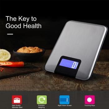 Báscula Digital para cocina, báscula de peso de 5kg/15kg, de 1g para cocina, gran precisión, peso de tara, gramos para cocinar, báscula de comida de grano de café