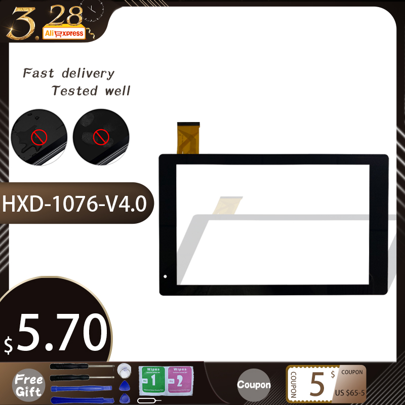 Original Black New Touch Screen Digitizer For 10.1'' Inch HXD-1076-V4.0 Tablet Touch Panel Sensor Replacement Free Shipping