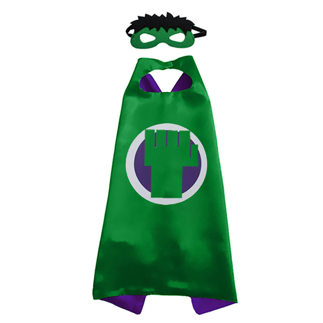 2019 Superhero Capes with Masks for Kids Birthday Party Supplies Party Favor Halloween Costumes Dress Up Girls Boys Cosplay 1