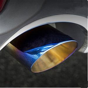 Image 5 - Ücretsiz kargo! Mazda için CX 5 CX5 2013 2017 paslanmaz çelik egzoz borusu susturucu oto aksesuarları için 2 adet