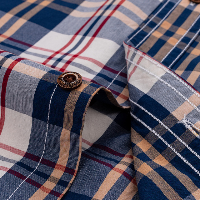 England Style Contrast Casual Checkered Shirts 5
