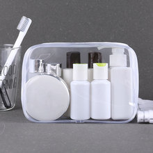 Environmentally Friendly PVC Cosmetic Bag Transparent Waterproof Travel Pocket Portable Zipper Jelly