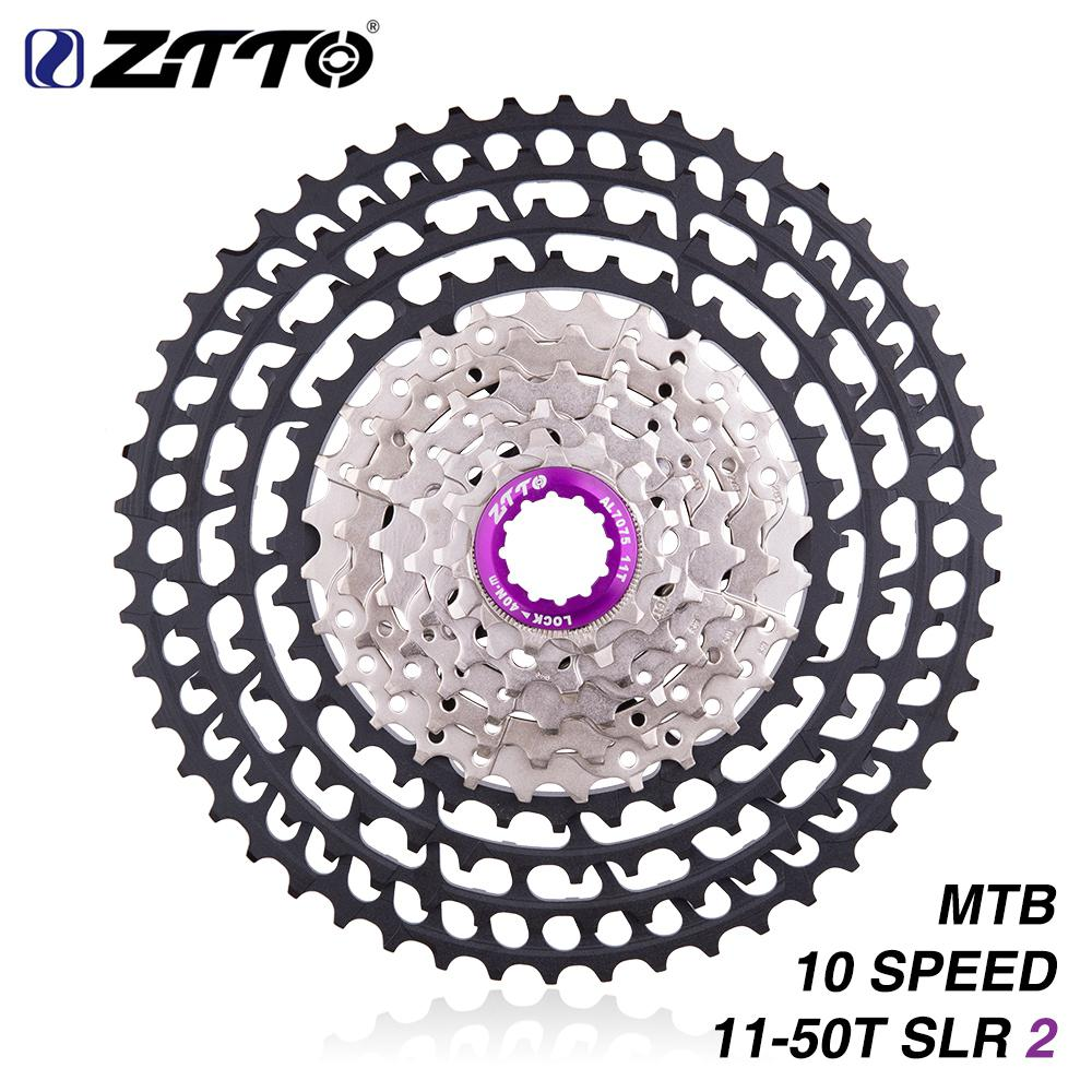 ZTTO MTB 10 Speed 11-50 T SLR2 Ultralight Cassette for M7000 M6000 10s 50T K7 360 Freewheel Bicycle Sprockets CNC G