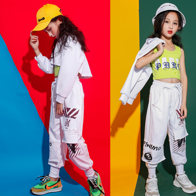 Kid Carnival Performance Hip Hop Clothing Running Casual Pants For Girls Jazz Dance Wear Costume Clothes Street Wear Outfit