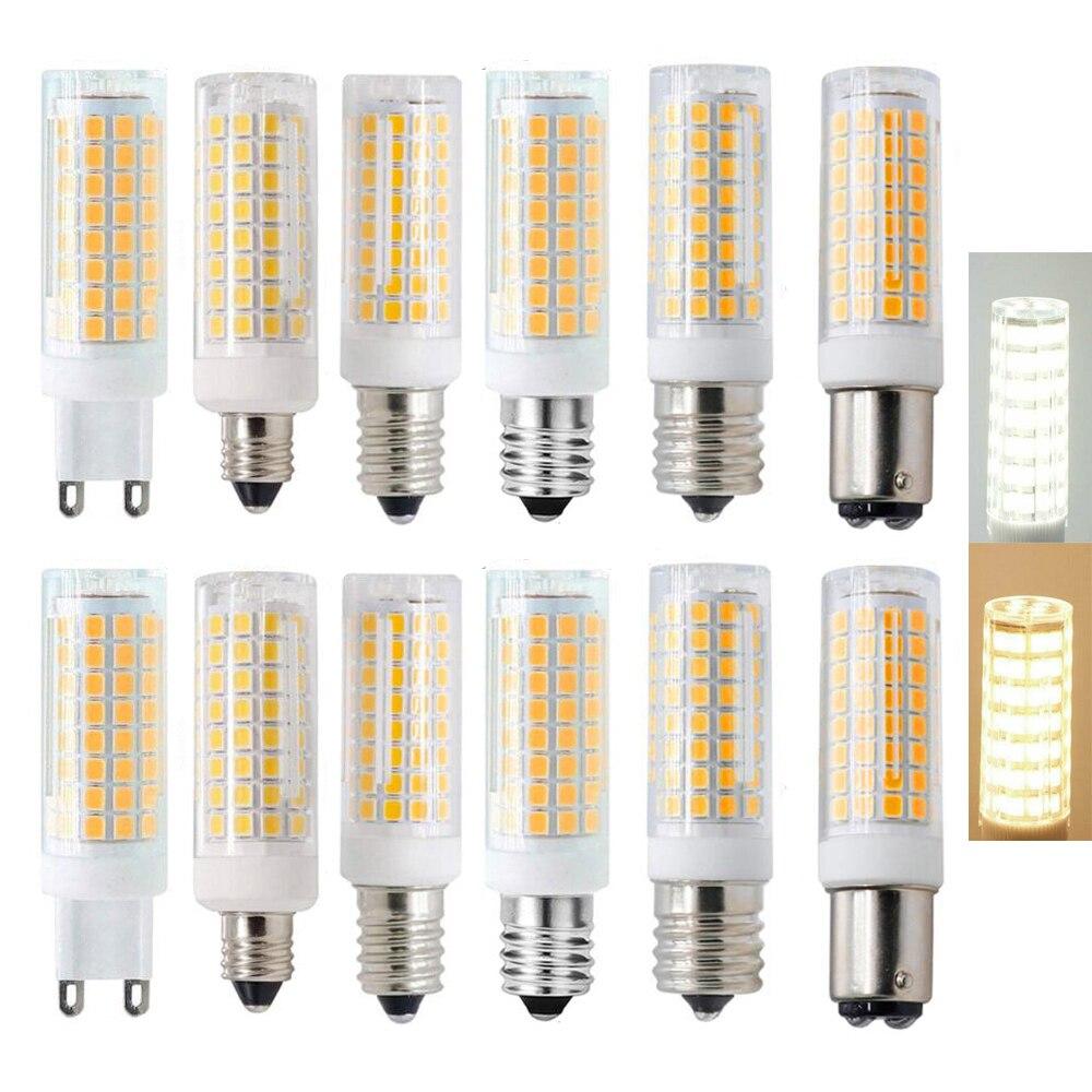 G4 G9 BA15D E11 E12 E14 E17 затемнения светодиодный свет мини 102 светодиодный s Кукуруза лампы 9W заменить 80 Вт галогенной лампы 220V 110V для дома