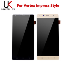 LCD Display For Vertex impress Style LCD Display Digitizer Screen With Touch Complete Assembly