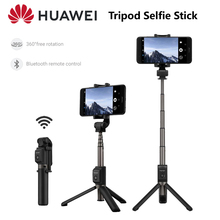 Huawei Tripod Selfie Stick แบบพกพาไร้สายบลูทูธควบคุมกล้องชัตเตอร์ Bluetooth3.0 มือถือสำหรับสมาร์ทโฟน Xiaomi