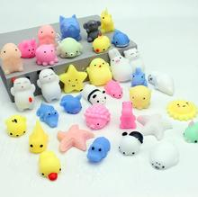 16pcs Squishy Toys Soft Cat Animal Mini Mochi Soft Slow Rising Mochi Squishy Funny Toy Squeeze Antistress Pranks Gag Joke Gift