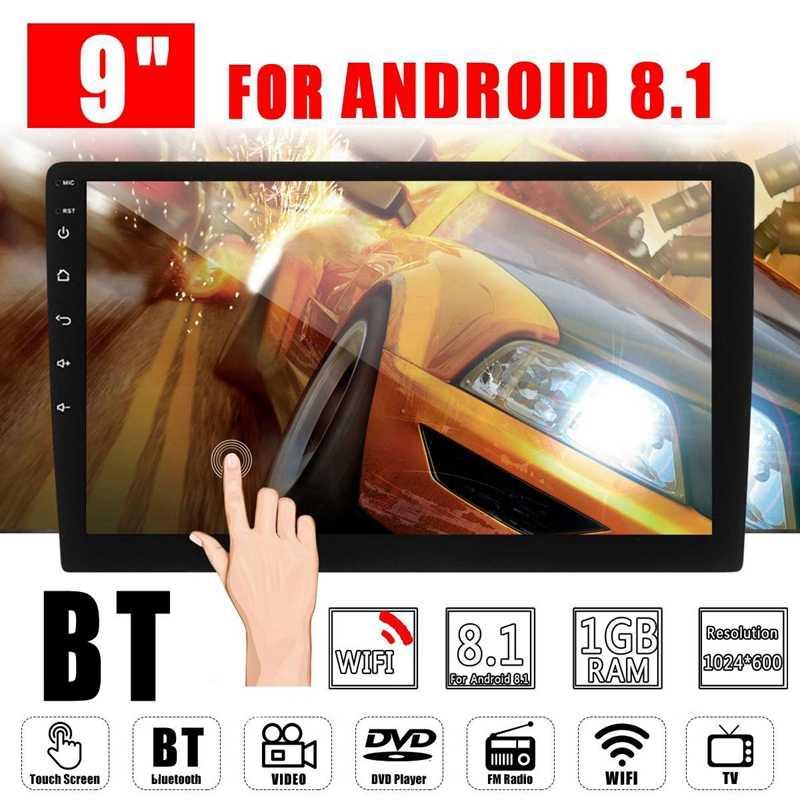 2 Din 9 pulgadas Android 8,0 Universal coche Radio doble Din estéreo Gps navegación en el salpicadero Video Wifi Usb Bluetooth coche Radio Multime