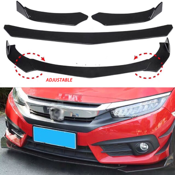 Universal ABS front bumper body kit adjustable lip spoiler diffuser for BMW E46 Toyota Honda image