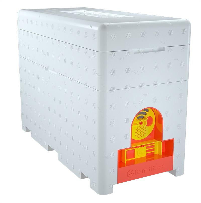 Бенффитби бренд многофункциональный королева пчелиный улей пластиковый пенопластовый материал двойная коробка вывод маток улей инструмент пчеловода пчелиное гнездо - Цвет: Only Deep Box