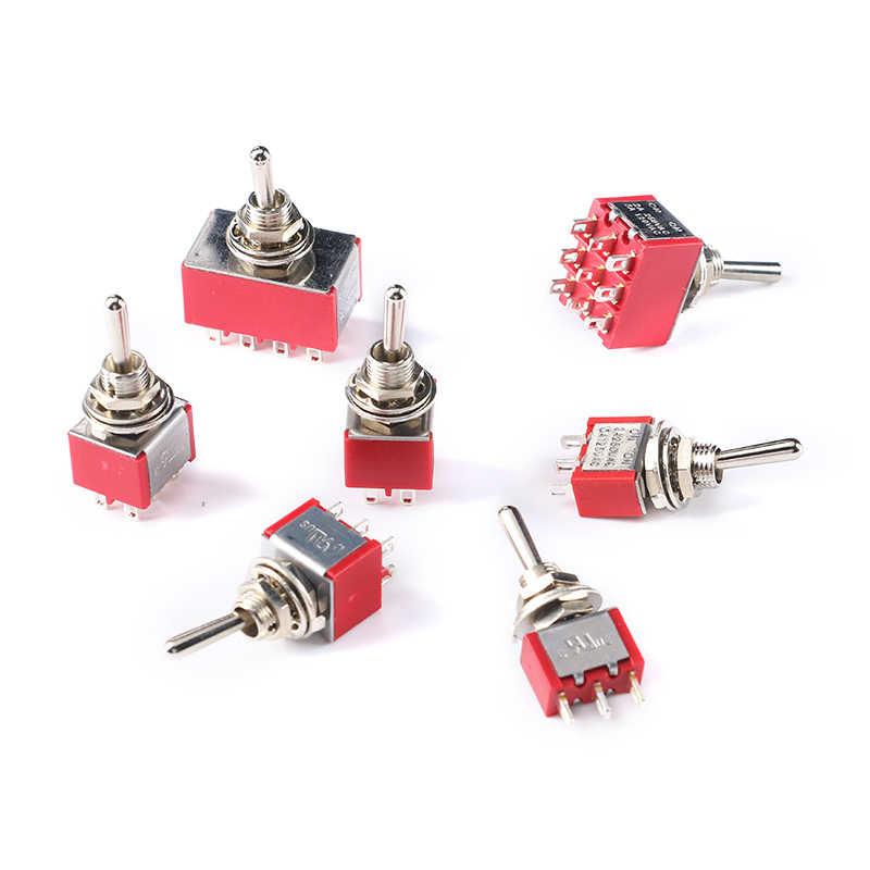 Mintice/™ 10 X On//Off//On moment/ánea de mini interruptor de palanca tablero de instrumentos del coche en miniatura SPDT 3 pines