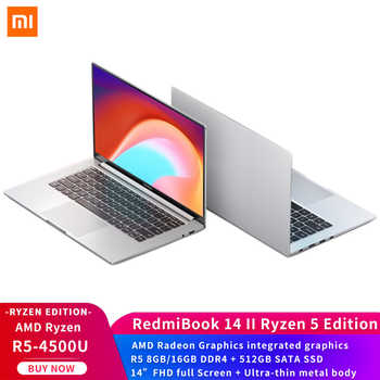 "Xiaomi Laptop RedmiBook 14 II AMD Ryzen Edition 5- 4500U 8GB/16GB DDR4 512GB SSD 14"" FHD full Screen Win10 Ultra-thin metal body - DISCOUNT ITEM  28 OFF Computer & Office"
