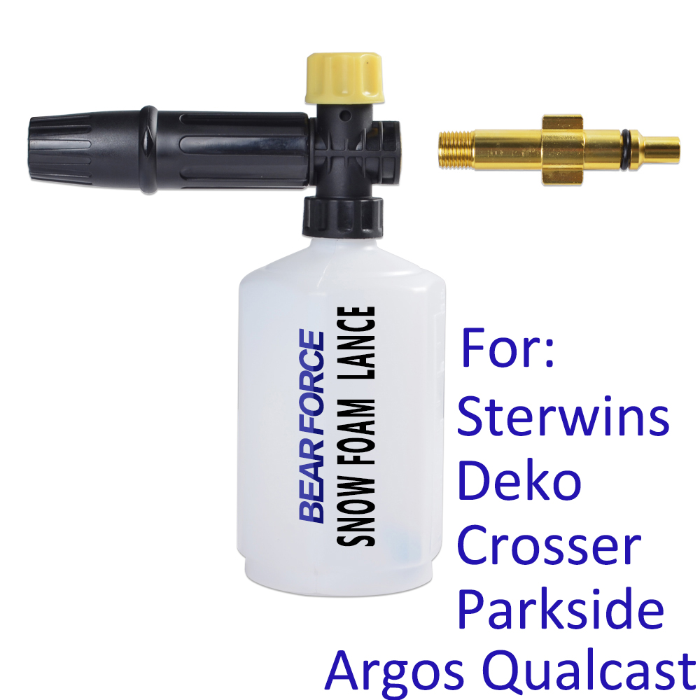 High Pressure Washer Snow Foam Lance Foam Gun Foam Nozzle Car Soap Foam Wash For Crosser Sterwins Deko Parkside Argos Qualcast