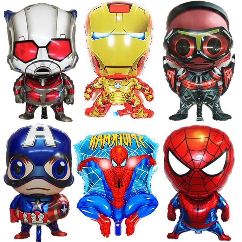 1pc Super Hero Spiderman Air Aluminium Foil Balloons Birthday Party Decorations Kids And Adults Children's Day Gifts Globos Toys