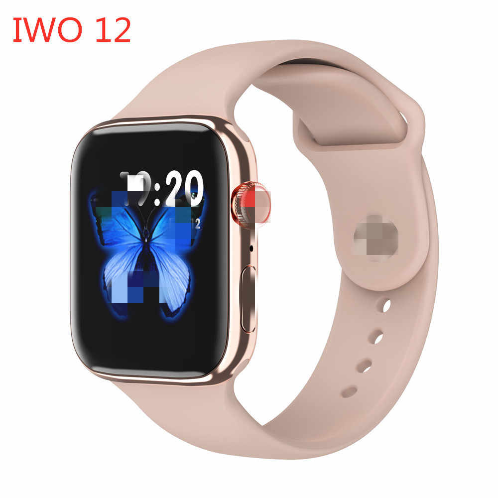 2020 IWO 12 Pro Series 5 Smart Watch 44MM Smartwatch Bluetooth IP68 Tahan Air Olahraga Watch untuk IOS Android PK IWO 8 13 10 Max