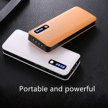 Su Geçirmez Taşınabilir Güç Bankası 30000 MAh Için Xiaomi Tüm Akıllı Telefon Pil Powerbank Hızlı şarj Harici Pil 3 USB LED