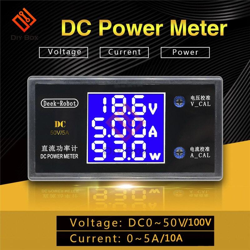 0-50V/100V 0-5A/10A High Power Digital Voltmeter Ammeter Motorcycle Car Voltage Current Power Meter 12V Volt Tester Detector