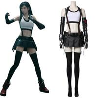 Tifa Lockhart Cosplay Final Fantasy VII Cosplay Costume Adult Women Girls Bra Skirt Full Set Halloween Carnival