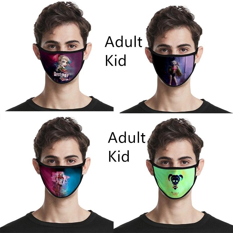 Suicide Squad Mask Cosplay Harley Quinn Masks Costume Cotton Adult Kid Dustproof Birds Of Prey Masks Mascaras Props