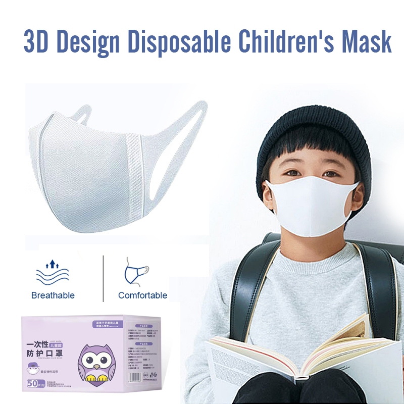 50pcs Disposable 3 Layer Filter Mouth Face Mask Dust PM2.5 Masks Breathable Anti dust Virus Flu Masks Kid/Adult Size    -