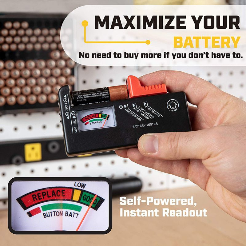 1PCS Multi-Function Practical Battery Tester Digital Display Battery Measurement Battery Power Voltage Detector 9v