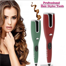 Hair-Curler Iron Ceramic Auto-Hair Portable for Waves Lcd-Display