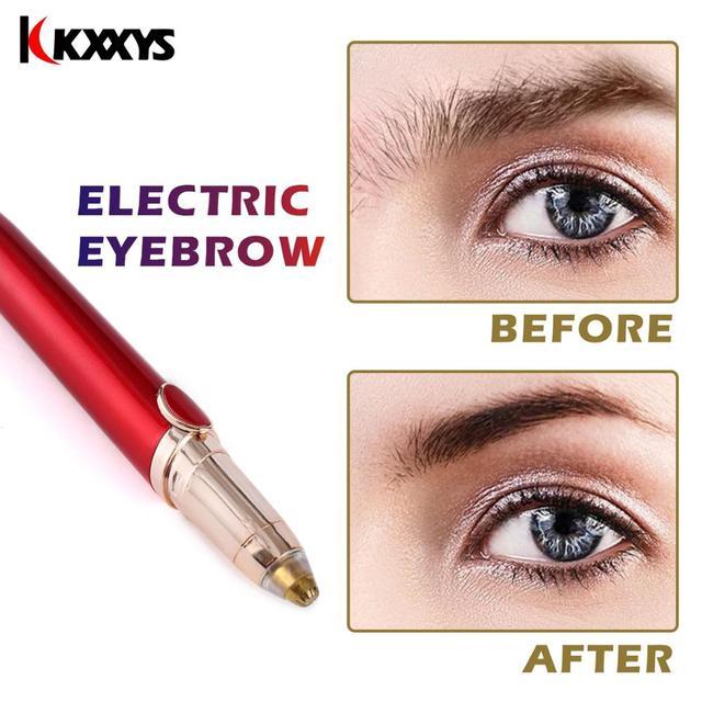 Electric Eyebrow Trimmer Brows Pen Makeup Painless Brow Epilator Mini Shaver Razors Portable Facial Hair Remover Dropshipping 2