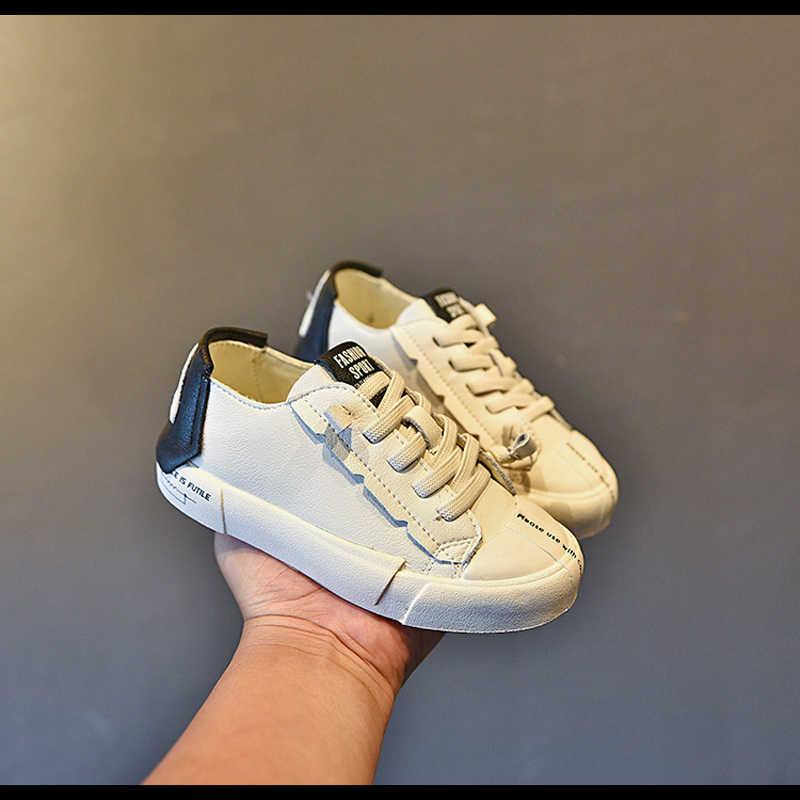 חדש סתיו ילדים ספורט סניקרס סניקרס מקרית ילדי תינוק בנות להחליק על שחור נעלי בני מותג שמנמן סניקרס רך מאמני