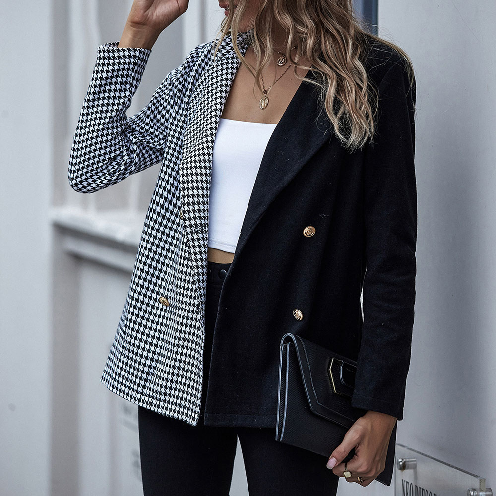 Casual Blazer Women Elegant Loose Casual Solid Business Blazer Long Blazers Loose Jacket Ladies Autumn Winter Suit