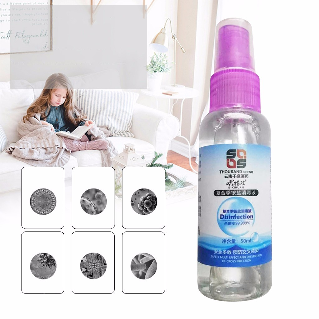 Cleanup Handsanitizer Sanitizer Cleaner Portable Household Soothing Spray 50ML 4