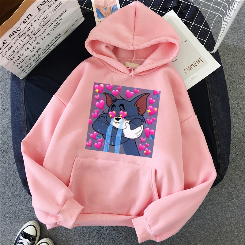 H2dfc8cace91142d4af89005f2997046ak - Harajuku Hoodies for Girls Cat Mouse White&pink Hooded Tops Women's Sweatshirt Long-sleeved Winter Tops Women Hoodies Kawaii