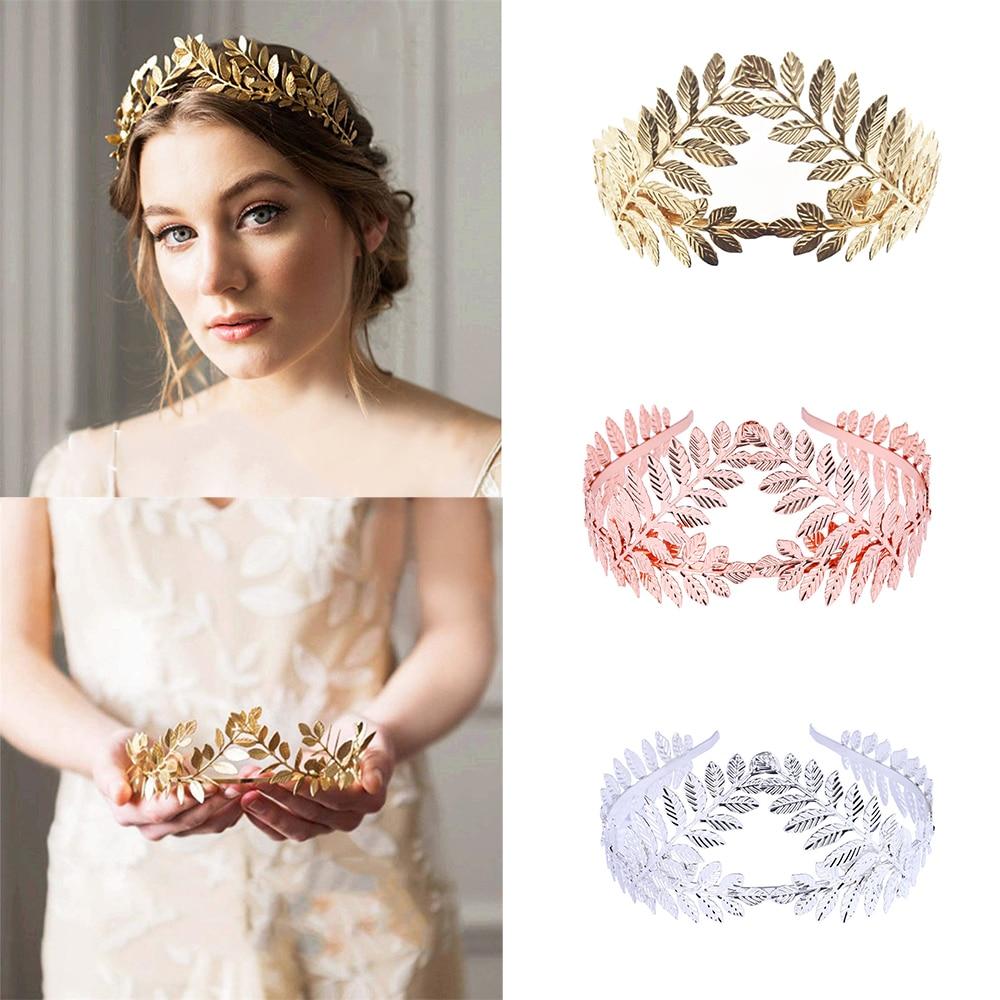 Olive Leaf Branch Hairband Women Greek Headband Roman Goddess Crown Headpiece Bridal Wedding Golden Tiara Hair Accessories Gift