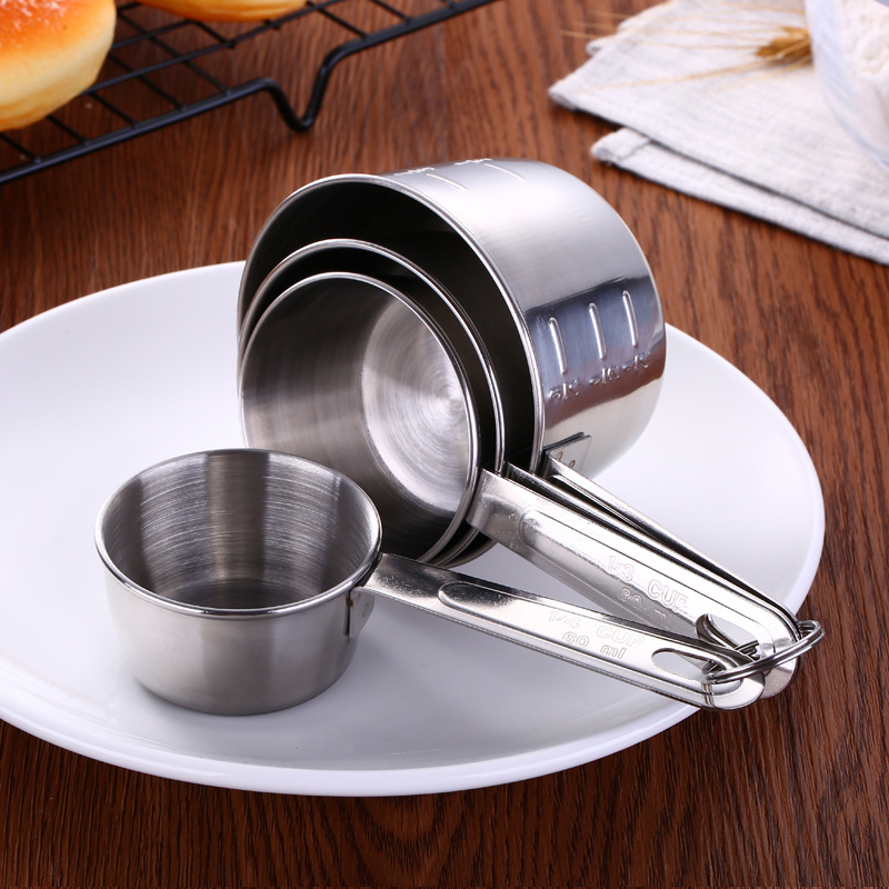 4pcs/Set Stainless Steel Measuring Spoons Coffee Powder Spoon Measuring Cup Kitchen Scale Pastry Baking Tools balance cuisine