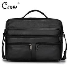 Luxe Zachte Lederen Business Mannen A4 Document Zak Hoge Kwaliteit Messenger Bag Grote Capaciteit Multi Pocket Lederen Tas Handtas