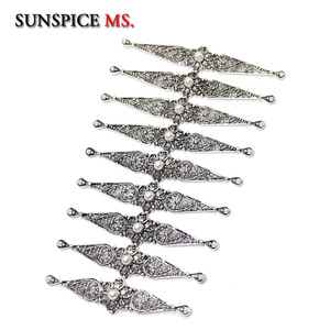 Image 3 - SUNSPICE MS Caucasus Ethnic Breastplate Wedding Belt Body Jewelry Accessories Metal Fstener For Women Bridal Gifts Wholesale