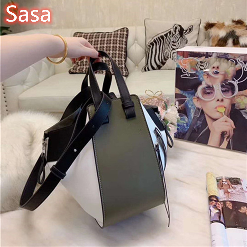 Leather women's bag with fashionable stitching luxury design shoulder bags for ladies totes puzzle bags