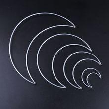 Hoop Macrame-Material-Accessories Crafts Handmade Metal Moon for DIY Dreamcatcher