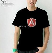 Camiseta js angular cor sólida verão para o sexo masculino t camisa do google angularjs
