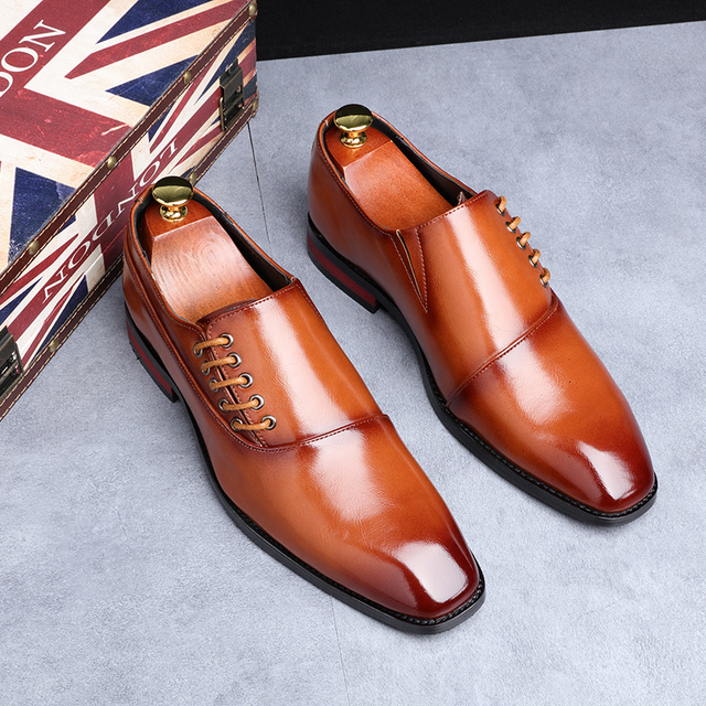 Fashion Business Dress New Classic Leather Suits Shoes 2