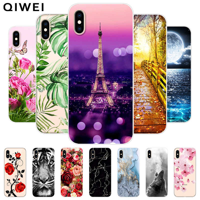 Phone Cases For iPhone X XS Max XR Case Slim Clear Flower Silicone Back Cover For iPhone 7 8 Plus 6 6S 7plus Soft TPU Fundas