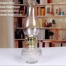 Lámpara clásica de queroseno de cristal Vintage romántica luces para pareja Camping carpas lámpara de mesa lámparas decoración artesanías regalos