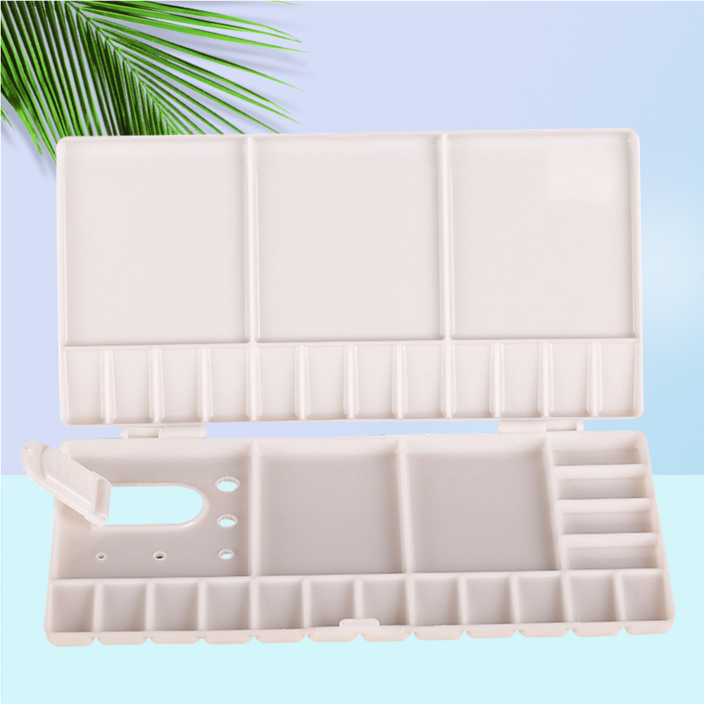 Painting Pallet Watercolor Folding Paint Tray with 33 Compartments for Painters Students Art Studio
