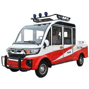 Camioneta eléctrica de 60V de cuatro ruedas, camioneta con cuatro asientos, nueva batería para el hogar, vehículo eléctrico de gasolina