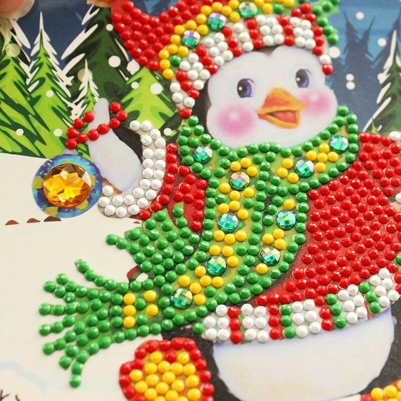 Diy Алмазная кропотливая Рождественская поздравительная открытка