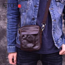 AETOO Mens Bag Genuine Leather Crossbody Bags for Men Small Messenger Casual Shoulder Male flap